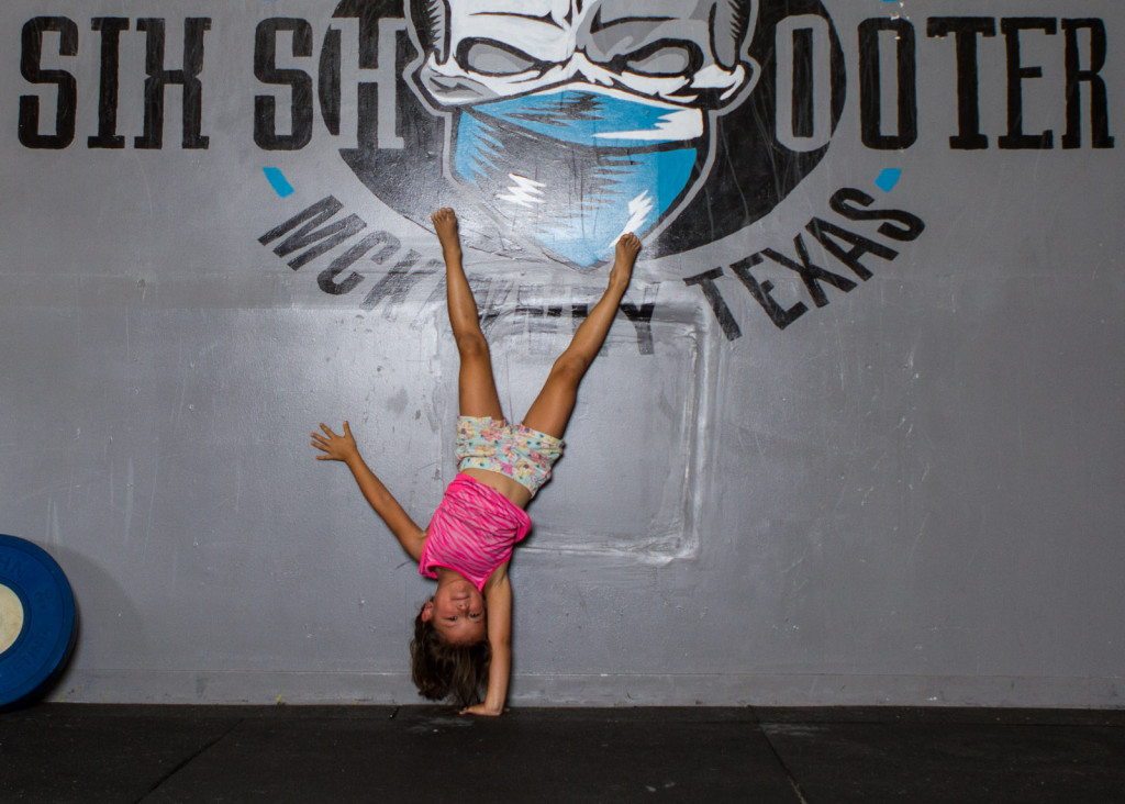 girl hand stand