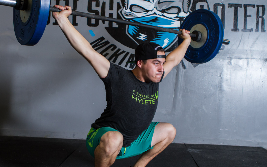 crossfit over head squat