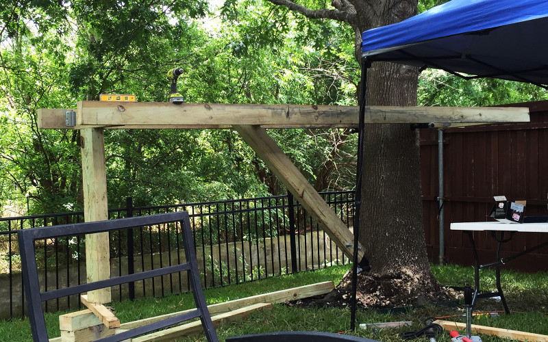 building-a-treehouse-beam-install