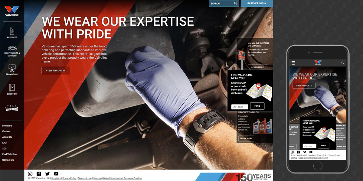 valvoline website build case study