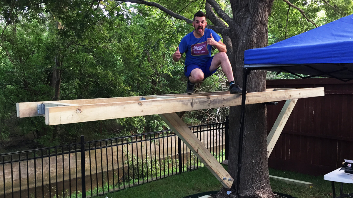 building a treehouse brian pierce thumbs up